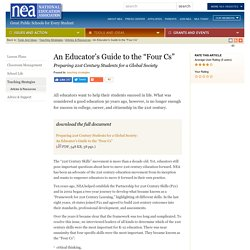 """An Educator's Guide to the """"Four Cs"""""""