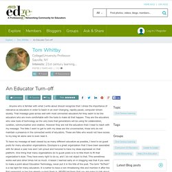 An Educator Turn-off