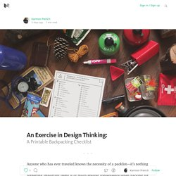 An Exercise in Design Thinking: