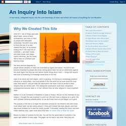 An Inquiry Into Islam