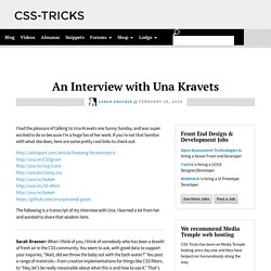 An Interview with Una Kravets