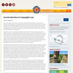 An Introduction to Copyright Law