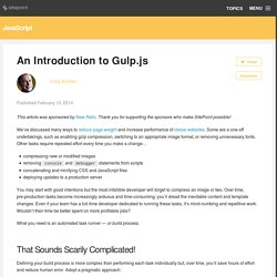 An Introduction to Gulp.js
