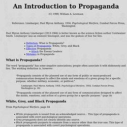 An Introduction to Propaganda