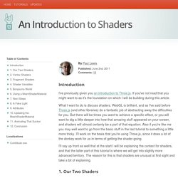 An Introduction to Shaders