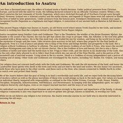 An introduction to Asatru