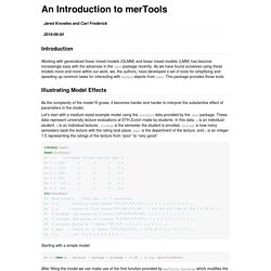 An Introduction to merTools