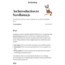 Intro to Scrollama.js