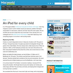 An iPad for every child | Tablets