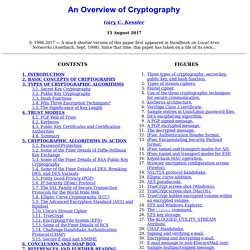 An Overview of Cryptography