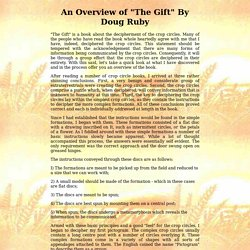 "An Overview of ""The Gift"" By Doug Ruby"