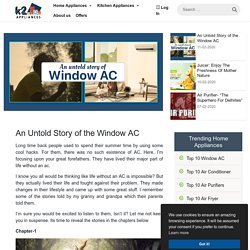 An untold story of the window AC