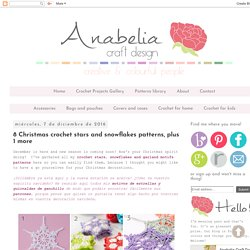 Anabelia craft design: 8 Christmas crochet stars and snowflakes patterns, plus 1 more
