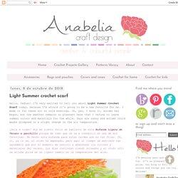 Anabelia craft design: Light Summer crochet scarf