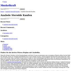 Anabole Steroide Kaufen « Muskelkraft
