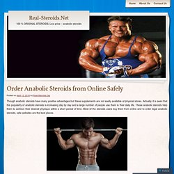 Order Anabolic Steroids from Online Safely
