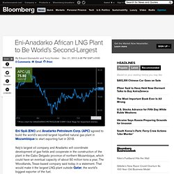Eni-Anadarko African LNG Plant to Be World's Second-Largest