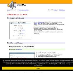 Añade voz a tu web - Text to speech