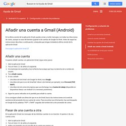 Añadir una cuenta a Gmail (Android) - Ayuda de Gmail