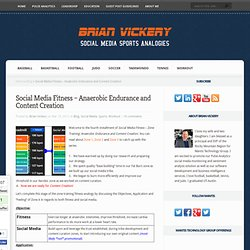 Social Media Fitness – Anaerobic Endurance and Content Creation