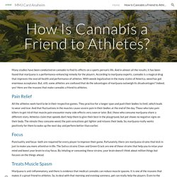 How Is Cannabis a Friend to Athletes?