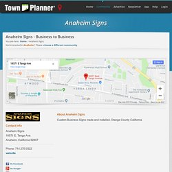 Anaheim Signs - Business to Business