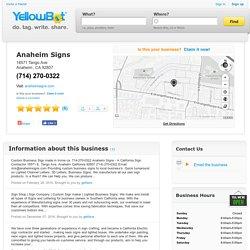 Anaheim Signs in Anaheim, CA