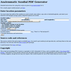 Analemmatic Sundial PDF Generator