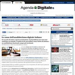 Le cause dell'analfabetismo digitale italiano