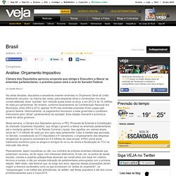 Análise: Orçamento Impositivo - Brasil