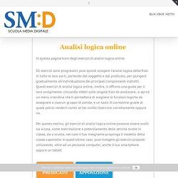 Analisi logica online - Scuola Media Digitale