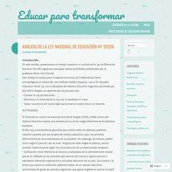 Análisis de la Ley nacional de educación nº 26206