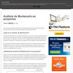 Cóno usar el análisis de Montecarlo en Proyectos
