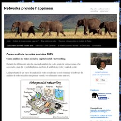 Curso análisis de redes sociales - Networks provide happiness