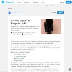 Analog input for Raspberry Pi