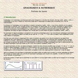 ANALOGIQUE & NUMERIQUE