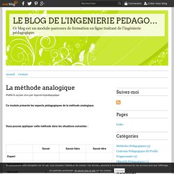 La méthode analogique - LE BLOG DE L'INGENIERIE PEDAGOGIQUE