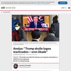 """Analys: """"Trump skulle lugna marknaden – oron ökade"""""""
