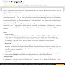 SWOT analyse / Basic Fit in cijfers