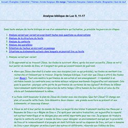 Analyse biblique de Luc 9, 11-17