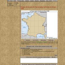 Analyse de la carte de France après l'armistice du 22 juin 1940