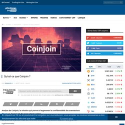 Analyse Coinjoin, l'anonymat sur Bitcoin