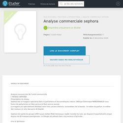 Analyse commerciale sephora - Compte Rendu - Juju26