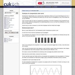 Analyse et comparaison des sons