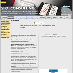 SEO Tipps Online - Online Beratung