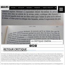 Analyse : La Critique cinéma - Critikat