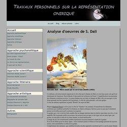 Analyse d'oeuvres de S. Dali - Travaux personnels sur la représentation onirique
