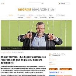 Thierry Herman : Analyse de la parole publique