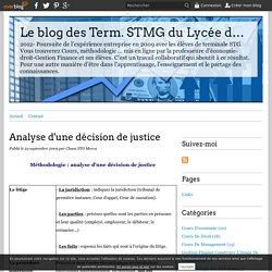Analyse d'une décision de justice - Le blog des Term. STMG du Lycée du Bugey 01