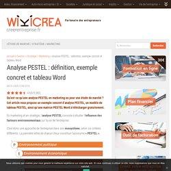 Analyse PESTEL: définition + exemple concret + modèle tableau Word